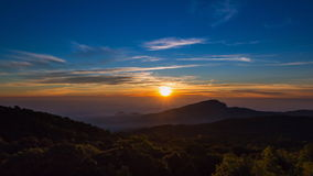 Beautiful Time Lapse Sunrise On Valley Of Thailand stock video footage