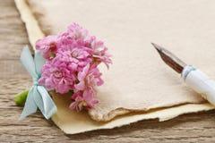 Beautiful tiny bouquet of pink kalanchoe blossfeldiana flowers o Stock Images