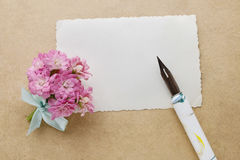Beautiful tiny bouquet of pink kalanchoe blossfeldiana flowers o Stock Photography