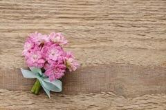 Beautiful tiny bouquet of pink kalanchoe blossfeldiana flowers o Stock Photo