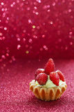 Beautiful tiny cupcakes with wild strawberries Royalty Free Stock Photo