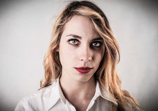 Beautiful tired young woman Stock Photography