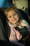 Beautiful Toddler in Car Seat Royalty Free Stock Photography