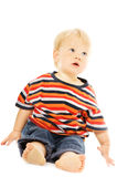 Beautiful toddler looking up Stock Photo