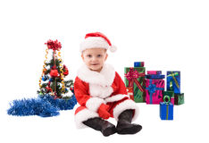 Beautiful toddler Santa Royalty Free Stock Photo