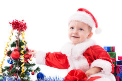 Beautiful toddler Santa Stock Images