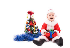 Beautiful toddler Santa Stock Photos
