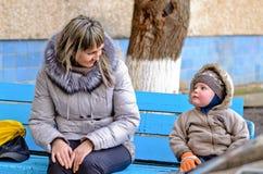 Beautiful toddler in winter woollies Royalty Free Stock Image