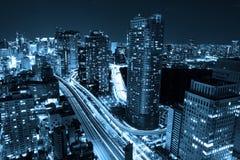 BEAUTIFUL TOKY CITYSCAPE AT NIGHT Stock Photo