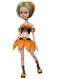 Beautiful toon pumpkin girl Royalty Free Stock Photo