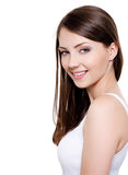 Beautiful toothy smiling woman Royalty Free Stock Image