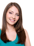Beautiful toothy smiling woman Royalty Free Stock Photography