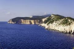 Beautiful top view coastline at Lefkada island in Greece Stock Photos
