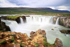 Famous Godafoss waterfall in Iceland royalty free stock image