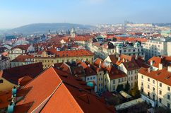 Free Beautiful Top View Of Historical Center Of Prague, New Town Hall, Czech Republic Royalty Free Stock Photos - 154317478