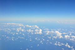 Beautiful top view from the window of plane Stock Photo