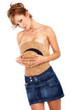 Beautiful topless woman Royalty Free Stock Images