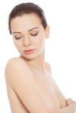 Beautiful topless woman. Stock Image