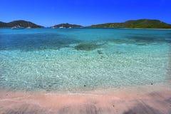 Beautiful Tortola - Virgin Islands. View of the Caribbean island Tortola - British Virgin Islands Stock Image