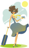 Beautiful tourist stock illustration