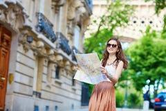 Beautiful tourist in Paris Royalty Free Stock Image