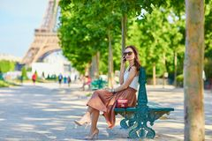 Beautiful tourist in Paris Royalty Free Stock Photo