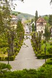 Beautiful touristic destination the balneary city Baile Govora with old architecture and awesome green parks - Romania, Baile royalty free stock photo