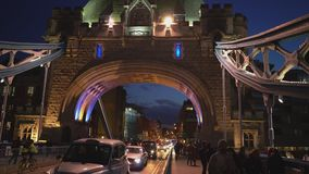 Beautiful Tower Bridge London in the evening London, England. Beautiful Tower Bridge London in the evening City of London, United Kingdom stock video footage