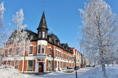 Beautiful tower house in Luleå Royalty Free Stock Images
