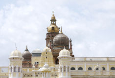 Beautiful towers and domes of Mysore palace Royalty Free Stock Photos