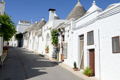 Beautiful town of Alberobello with trulli houses Stock Images