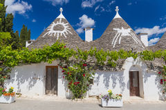 Beautiful town of Alberobello with trulli houses, main touristic district, Apulia region, Southern Italy Stock Image