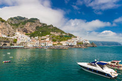 Beautiful town of Amalfi,front view, Amalfi coast, Campania, Italy Stock Image