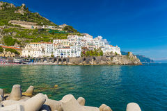 Beautiful town of Amalfi,front view, Amalfi coast, Campania, Italy Stock Photo