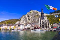 Beautiful town Dinant in Belgium royalty free stock images