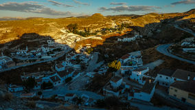 The beautiful town of Galera at sunset, Andalusia Stock Photos