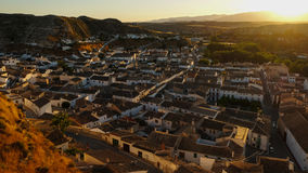 The beautiful town of Galera at sunset, Andalusia Stock Image