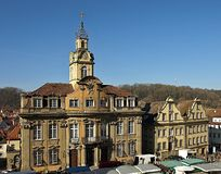 Beautiful town house of Schwaebisch Hall in Germany royalty free stock photo