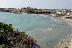 Beautiful town of Otranto and its beach on Salento peninsula Royalty Free Stock Photos