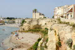 Beautiful town of Otranto and its beach on Salento peninsula Royalty Free Stock Images