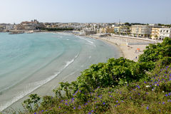 Beautiful town of Otranto and its beach on Salento peninsula Stock Image