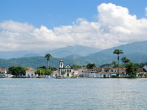 Beautiful town of Paraty, one of the oldest colonial towns in Br Royalty Free Stock Image