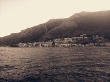 Beautiful town perast on the coast, boka bay, montenegro royalty free stock image
