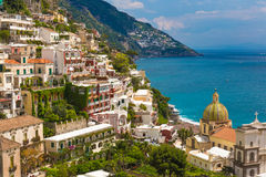 Beautiful town of Positano, Amalfi coast, Campania region, Italy Stock Images