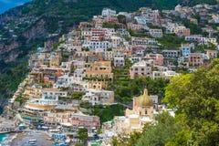 Beautiful town of Positano, Amalfi coast, Campania region, Italy stock photos
