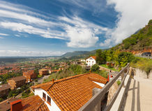 Beautiful  town in  Pyrenees mountains Stock Photography