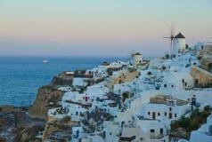 Beautiful town of Santorini Island, Greece stock photo