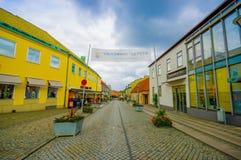Beautiful town of Simrishamn, Sweden. SIMRISHAMN, SWEDEN -  JUNE 19, 2015: Beautiful and picturesque town of Simrishamn Royalty Free Stock Photos