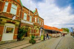 Beautiful town of Simrishamn, Sweden. SIMRISHAMN, SWEDEN -  JUNE 19, 2015: Beautiful and picturesque town of Simrishamn Stock Photos