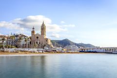 Beautiful town of Sitges, Catalonia, Spain Stock Image